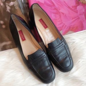 Cole Haan Vintage Black Leather Penny Loafers 9AA